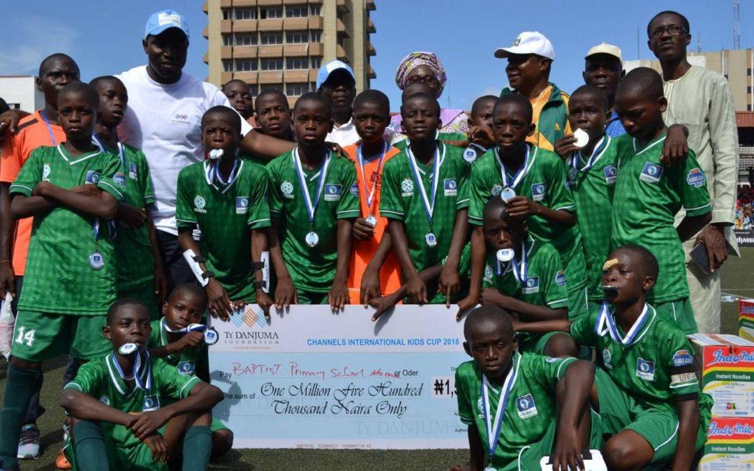 TYDF award Grants to the top 3 winning schools in 2018 Channels International Kids Cup