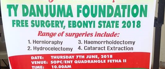Free surgical mission at the Federal Teaching Hospital in Abakaliki, Ebonyi state for indigent citizens of the state