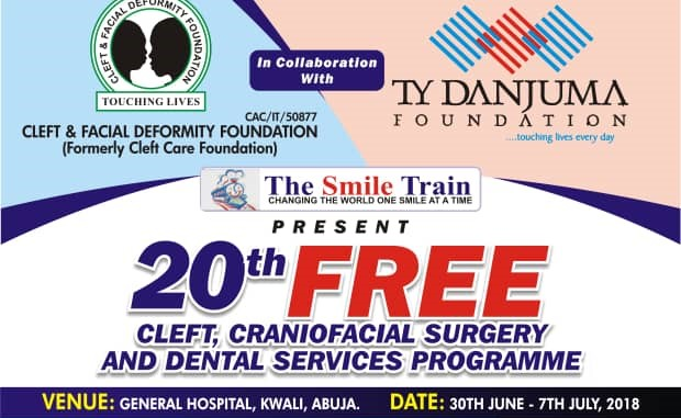 Free Cleft And Craniofacial Surgery Outreach in Kwali