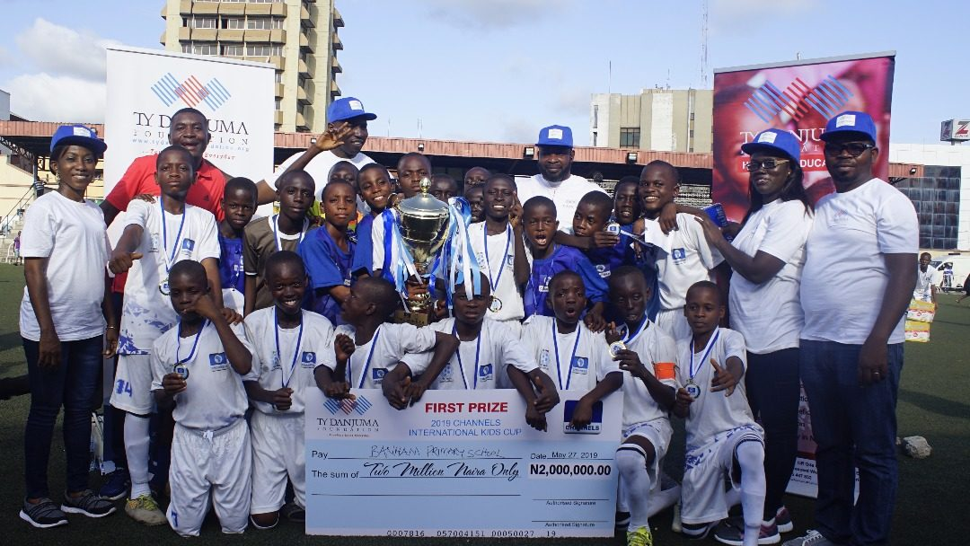 TY Danjuma Foundation award prizes to winners of 2019 Channels International Kids cup