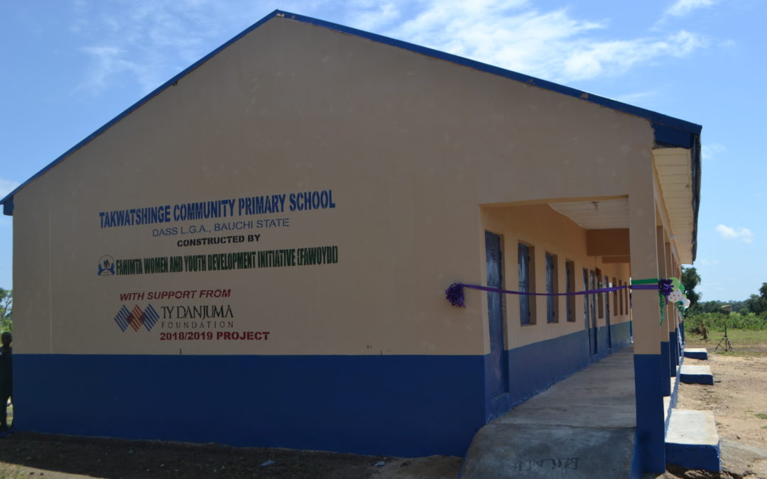 TY Danjuma Foundation constructs a school in Takwatshinge community, Dass